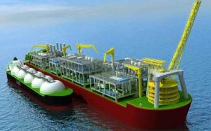 An artist's impression of Shell's LNG processing ship